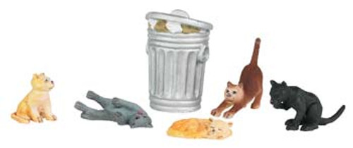 BACHMANN - O Cats with Garbage Can (6) - Train Figures (O Scale) (33157) 022899331577