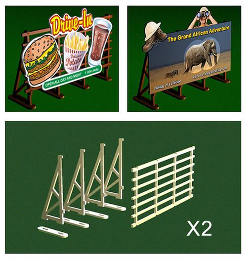 BACHMANN - O Scale Billboard Kit (2) (39111) 022899391113