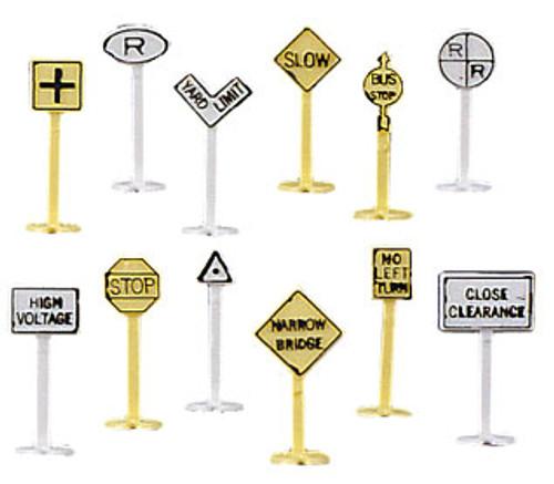 BACHMANN - N Railroad & Street Signs (24) - Train Accessories (N Scale) (42513) 022899425139