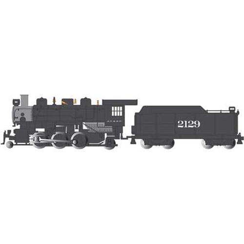 BACHMANN - N Scale 2-6-2 Prairie Locomotive Train Engine SF #2129 (51555) 022899515557