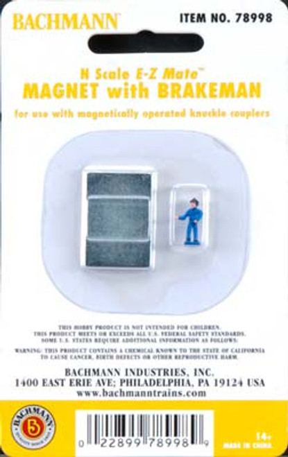 BACHMANN - N EZ Mate Uncoupling Magnet with Brakeman - Train Parts (N Scale) (78998) 022899789989
