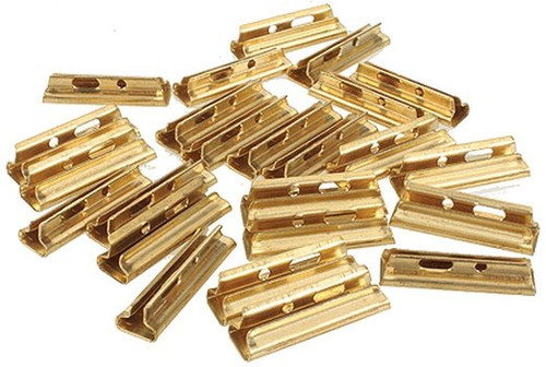 BACHMANN - 94657 G Scale Track Brass Rail Joiners (24pc/Bag) 022899946573
