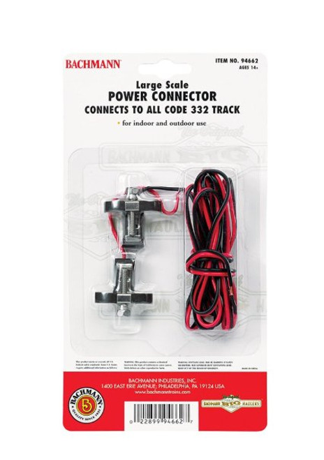 BACHMANN - 94662 G Scale Track Power Connector 022899946627