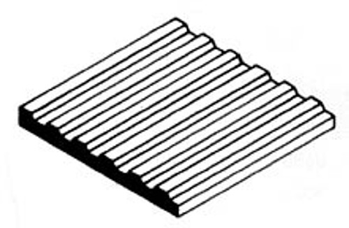 "EVERGREEN - Plastic Styrene 3D Patterned Sheet Stock - Corrugated Metal Siding .100"" spacing (4529) 787026045290"