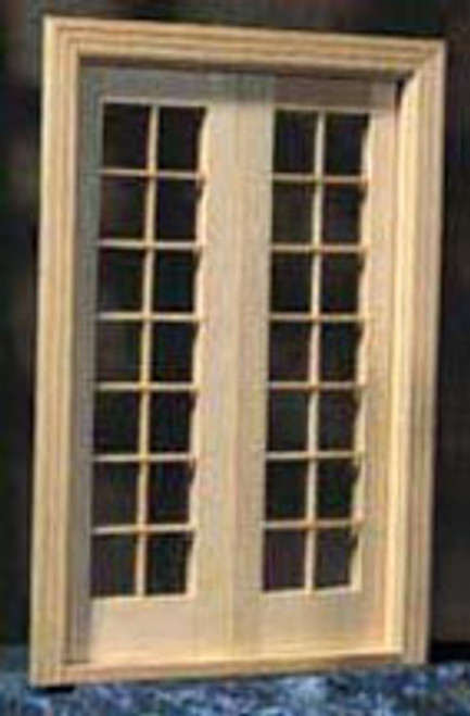 """HOUSEWORKS - Half Scale (1/2"""" Scale) Dollhouse Miniature - French Door (HWH6011) 022931260117"""