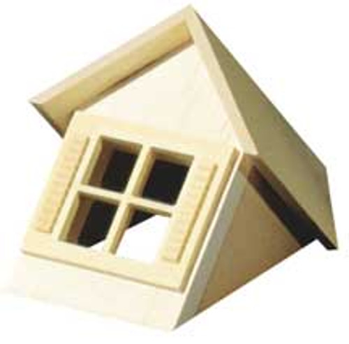 """HOUSEWORKS - Half Scale (1/2"""" Scale) Dollhouse Miniature - Dormer Window Unit With Window (HWH7002) 022931270024"""