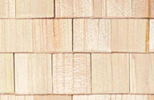 "HOUSEWORKS - Half Scale (1/2"" Scale) Dollhouse Miniature - Cedar Shingles 400 pcs (HWH7004) 022931270048"