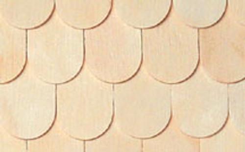 "HOUSEWORKS - Half Scale (1/2"" Scale) Dollhouse Miniature - Fishscale Shingles 400 pcs (HWH7005) 022931270055"