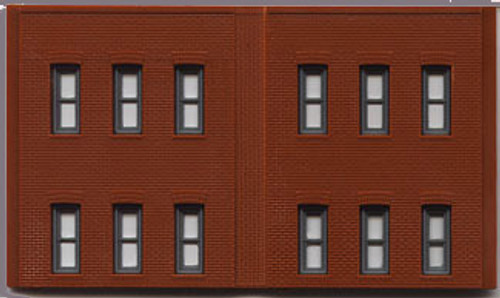 WOODLAND SCENICS - N Scale 2 Story Wall/12 Windows (3 panels) Model Building Wall Panels Kit (60122) 781324601226