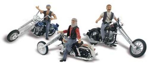 WOODLAND SCENICS - N Bad Boy Bikers - Train Accessories (N Scale) (AS5344) 724771053446