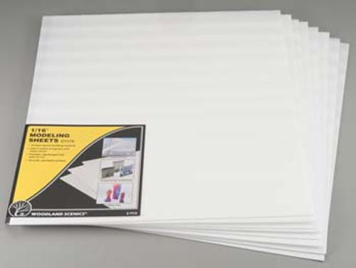 WOODLAND SCENICS - 1/16 Inch Foam Modeling Sheets 8 Pack (C1174) 724771011743