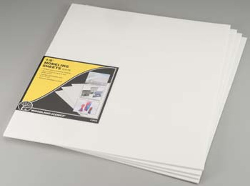 WOODLAND SCENICS - 1/8 Inch Foam Modeling Sheets 4 Pack (C1175) 724771011750