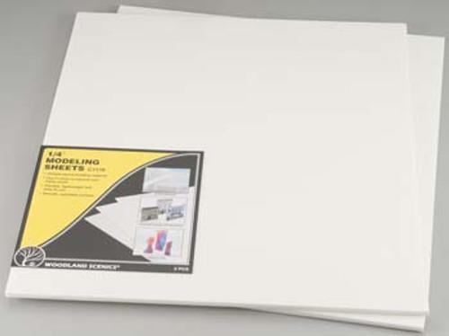 WOODLAND SCENICS - 1/4 Inch Foam Modeling Sheets 2 Pack (C1176) 724771011767
