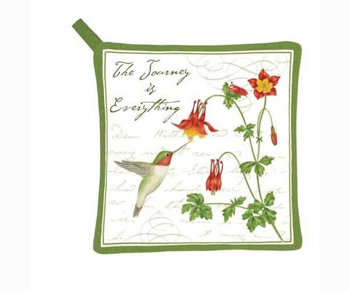 ALICE'S COTTAGE - Hummingbird Pot holder (cloth) (AC21438) 803246066294