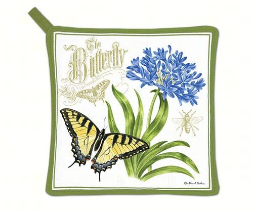 ALICE'S COTTAGE - Agapanthus (butterfly) Potholder AC21478 803246087312