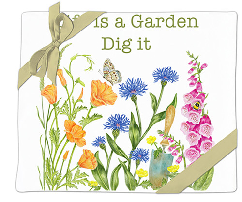 "ALICE'S COTTAGE - ""Life is a Garden"" Flour Sack Towel (Set of 2) AC34493 803246092125"