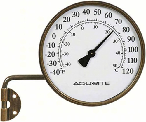 ACCURITE - 4 inch diameter Metal Thermometer (Swing Arm) ACCURITE00334A2 072397003346
