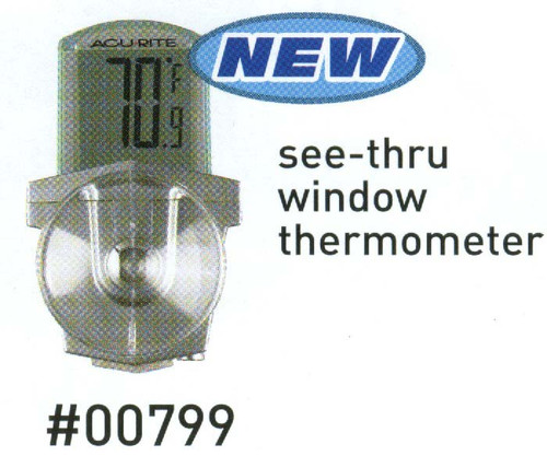 ACCURITE - Digital Window Thermometer with Suction Cups (ACCURITE00799) 072397007993