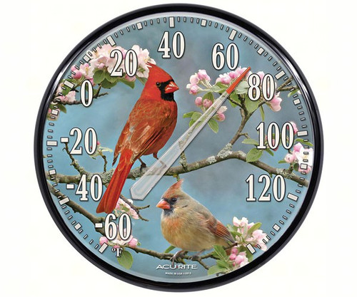 ACCURITE - Designs James Hautman Cardinals in Dogwood Thermometer ACCURITE01597A1 072397015974