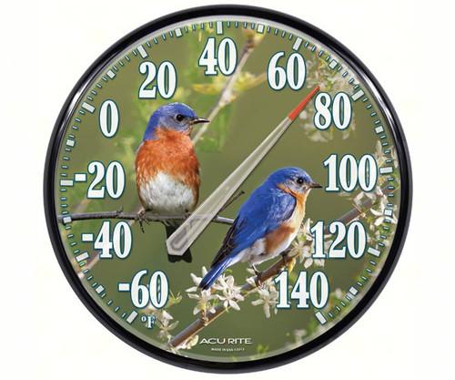 ACCURITE - James Hautman 12 Inch Indoor/Outdoor Bluebird Thermometer (ACCURITE01598A1) 072397015981