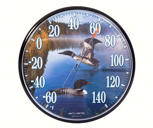 ACCURITE - Designs 12.5 Inch Loons Thermometer ACCURITE01726A1 072397017268