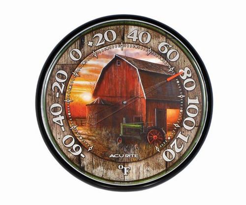 ACCURITE - Barn Design Round Thermometer ACCURITE01918 072397019187