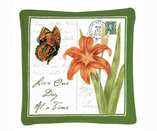 ALICE'S COTTAGE - Orange Butterfly Single Mug (coffee) Mat (aromatic scent) (cloth) (ACS11436) 803246065679