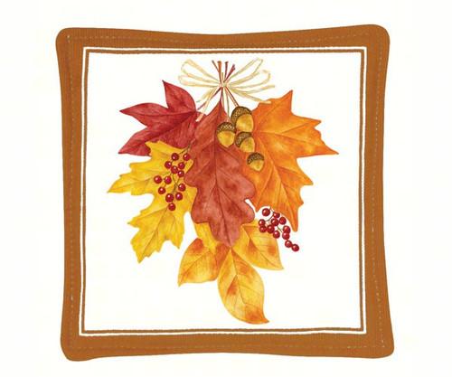 ALICE'S COTTAGE - Autumn Leaves Single Mug Mat ACS11460 803246077733