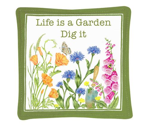 "ALICE'S COTTAGE - ""Life is a Garden"" Single Spiced Mug Mat ACS11493 803246091937"