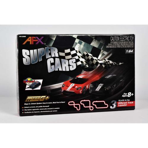 AFX - (HO RACING) - Super Cars Mega G+ HO Electric Slot Car Race Set with Tri-Power Module (22005) 053941220051