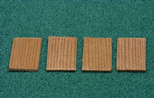 ALESSIO - 1 Inch Scale Dollhouse Miniature - Economy Cedar Shingles 2.5 Sq Ft 500 Pieces (AS50A)