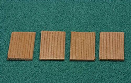 ALESSIO - 1 Inch Scale Dollhouse Miniature - 250 Piece Square Cedar Shingles (AS50B)