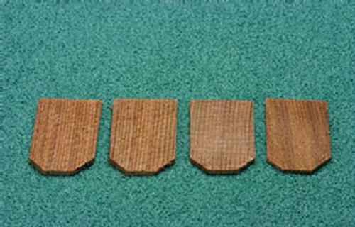 ALESSIO - 1 Inch Scale Dollhouse Miniature - Economy Cedar Shingles Hexagon 1000 Pieces (AS51)