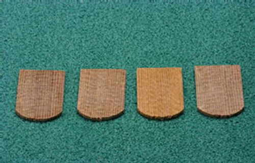 ALESSIO - 1 Inch Scale Dollhouse Miniature - Economy Cedar Shingles Fishscale 1000 Pieces (AS52)