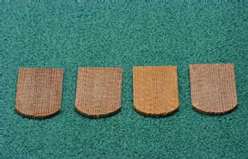 ALESSIO - 1 Inch Scale Dollhouse Miniature - Economy Cedar Shingles Fishscale 500 Pieces (AS52A)