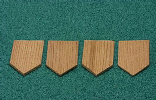 ALESSIO - 1 Inch Scale Dollhouse Miniature - Economy Cedar Shingles Diamond 1000 Pieces (AS53)