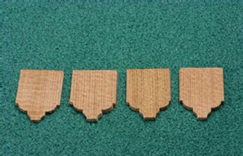 ALESSIO 1 Inch Scale Classic Cedar Shingles (ALE-54A)