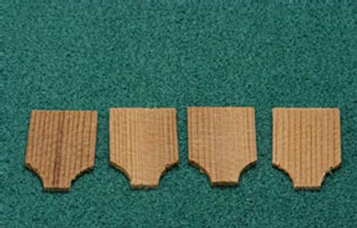 ALESSIO - 1 Inch Scale Dollhouse Miniature - Economy Cedar Shingles Cape May 500 Pieces (AS55A)
