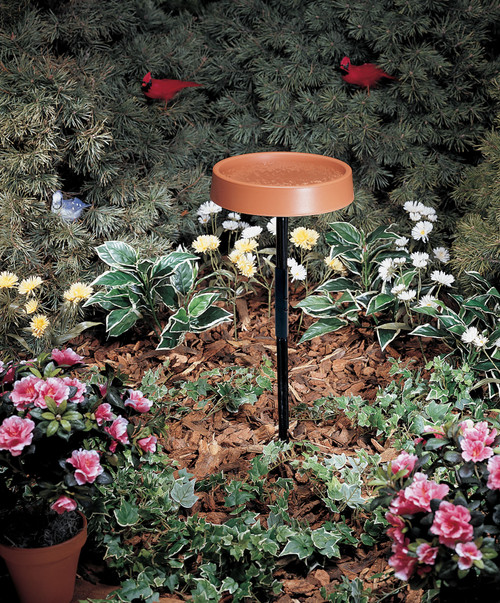 ALLIED PRECISION - 12 in. Electric Heated Bird Bath with Metal Stand (ALLIEDPR400) 022102040005