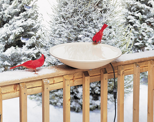 ALLIED PRECISION - Heated Bird Bath (20 in.) with Deck Rail Hardware (ALLIEDPR600) 022102060003