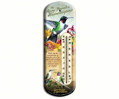 AMERICAN EXPEDITION - Hummingbird Tin Thermometer (AMEBTHM131) 659356022886