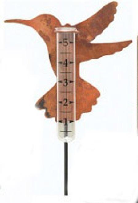 ANCIENT GRAFFITI - Hummingbird - Metal Silhouette Rain Gauge (ANCIENT680) 638071680014