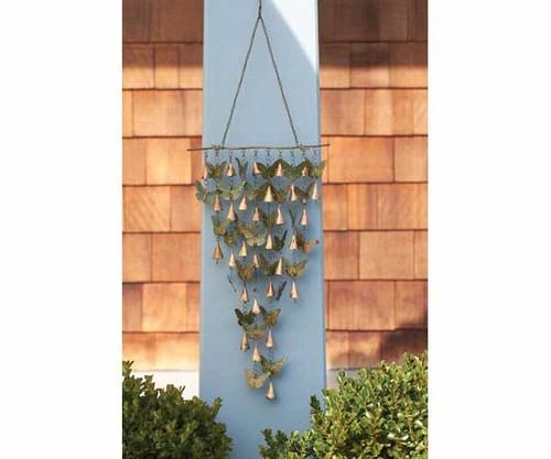 ANCIENT GRAFFITI - Shimmering Bells Butterflies Wind Chime Garden Decor Hanging (ANCIENTAG1109) 638071778698