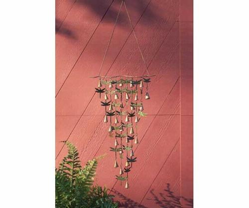 ANCIENT GRAFFITI - Shimmering Bells Dragonflies Wind Chime Garden Decor Hanging (ANCIENTAG1110) 638071778704