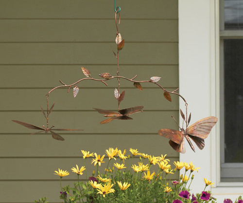 ANCIENT GRAFFITI - Branch Mobile Butterfly Flamed Wind Garden Decor (ANCIENTAG1134) 638071779534