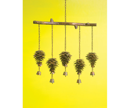 ANCIENT GRAFFITI - Pine Cone Flamed Windchime ANCIENTAG1429 638071786440