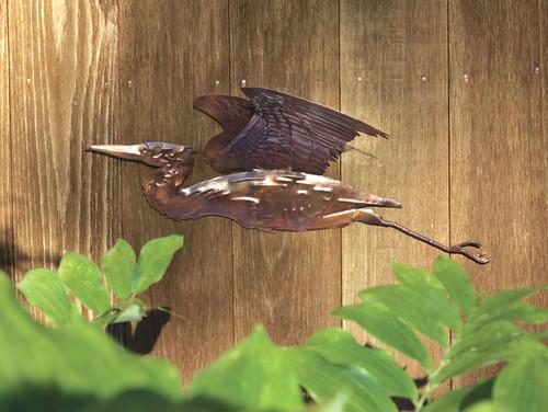 ANCIENT GRAFFITI - Heron - Metal Wall Sculpture Copper Finish Wall-Mount (ANCIENTAG83220) 638071832208