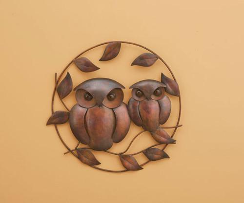 ANCIENT GRAFFITI - Owl Duo Flamed Wall Decor ANCIENTAG83282 638071785153