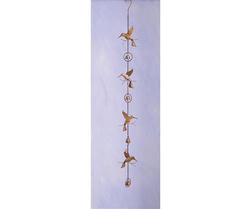 ANCIENT GRAFFITI - Hummingbird & Bells Flamed Metal Hanging Ornament ANCIENTAG86023 638071786488