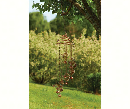 ANCIENT GRAFFITI - Bee Spiral Mobile with Bells Flamed Hanging ANCIENTAG87094 638071785351